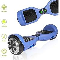 TechClic Electric Hoverboard Self-Balancing 6.5 Inch Wheel Built in Speaker LED Headlight UL Certified