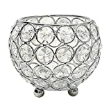 VINCIGANT Valentines Day Crystal Tea Light Candle Holders/Candle Shade for Wedding Coffee Table Decorative Centerpiece Holiday Decoration 4 Inch Diameter(Silver)