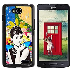LECELL--Funda protectora / Cubierta / Piel For LG OPTIMUS L90 / D415 -- Photo Actress Star Hollywood 60'S --