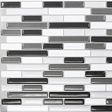 Wallmazter Peel And Stick Vinyl Wall Tile Sticker Kitchen Bathroom