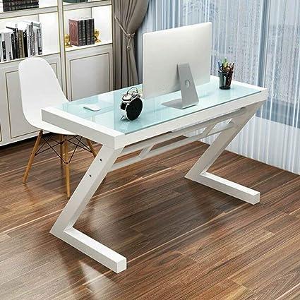 Mesa plegable Mesa de vidrio templado Escritorio de la oficina en ...