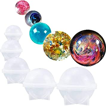 Yalulu 5 X Runde Ball Giessharz Craft Silikon Form Fur Schmuck