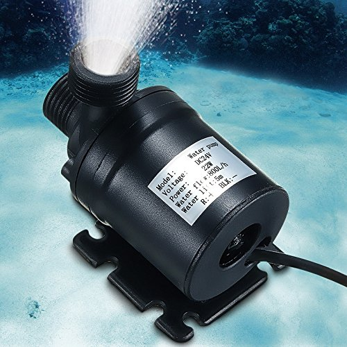 yunli DC 12-24V Hot Water Circulation Solar Water Pump Submersible Brushless Motor 5M 800 L/H by yunli