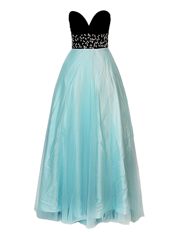 Dresstells Damenmode Bodenlang Tüll Herzförmig Abendkleid Ballkleid Mit Applikation