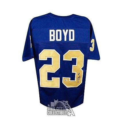 premium selection 4287c 3cb20 Autographed Tyler Boyd Jersey - Pitt Custom Light Blue ...