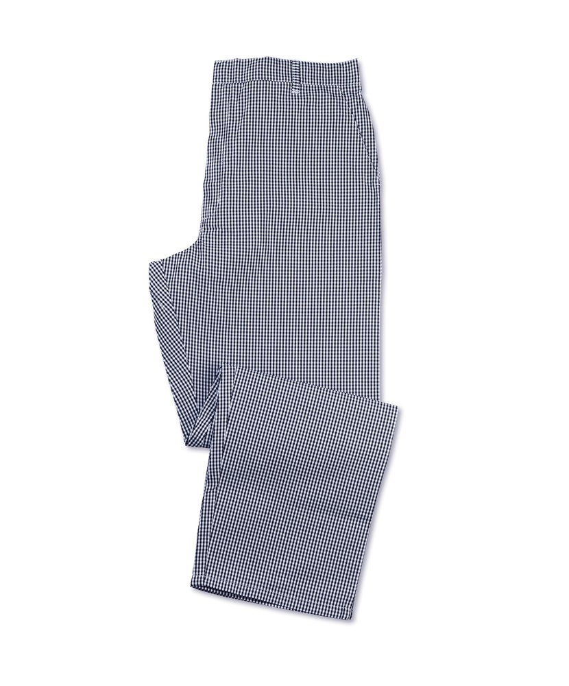 Blue//White Size: Small Alexandra STC-NU32BW-ST Chefs Gingham Trouser Check Tall 67/% Polyester//33/% Cotton