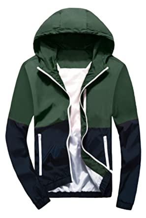 bf9ff73a86cf Happyyip Womens Light Weight Outdoor Hooded Windbreaker Sports Outwear  Jacket (US XS Asian Tag