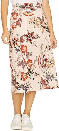 Sanctuary Womens Everyday Floral Daytime Midi Skirt