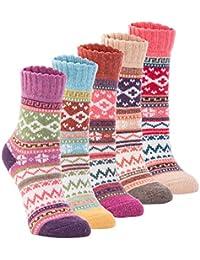 Yannik Women's 5 Pair Pack Vintage Style Cotton Knitting...