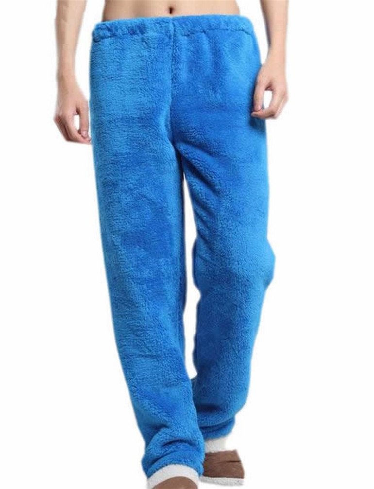 KXP Men And Women Soft Flannel Sleep Lounge Pants jewelry blue M