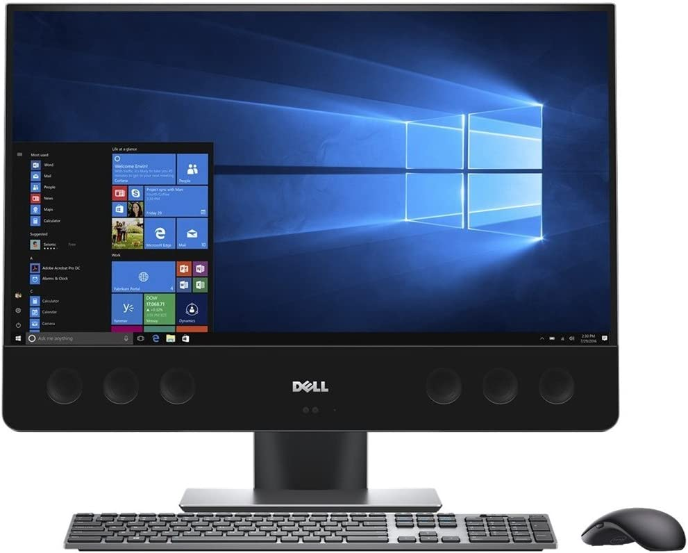 "Dell XPS7760 27"" Ultra HD 4k TouchScreen All-In-One PC, (7th Gen Core i7 (up to 3.60 GHz), 16GB, 2TB HDD + 32GB SSD, AMD Radeon RX-570 Graphics, Black."