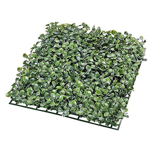 LeeMas Inc 24 Pcs Artificial Boxwood Topiary Tree Hedge Panels Wall Fence Decor Faux Greenery Bush Shrubs Panel 10x10 in