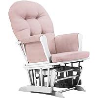 Deals on Belle Isle Furniture Bentley White Pink Glider