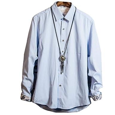 1a034aa76ce4ff Amazon   KAJIKAJI 長袖シャツ メンズ ボタンダウン 長袖 白シャツ カジュアルシャツ トップス ミリタリー おしゃれ 夏 夏服  ファッション   シャツ 通販