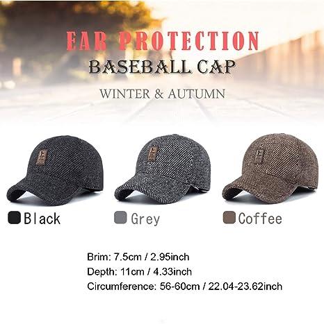 GADIEMKENSD Winter Earflap Cap Men Baseball Sport Caps Dad Hat Fashion  Novelty Clothing Running Cap Fashion Cap Men Junior Clothes Prime Unisex  Clothing Men ... b747df7174e1