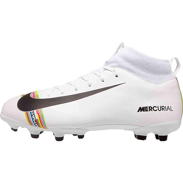 Nike Unisex-Kinder Sperfly 6 Academy Gs CR7 MG Fußballschuhe, Weiß (White/Black-Pure Platinum 109), 37 EU