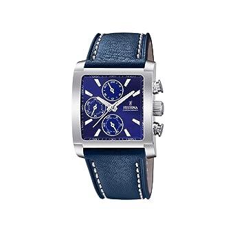 F204242 Herren Quarz Leder Armband Chronograph Uhr Mit Festina zVLSpGqUM