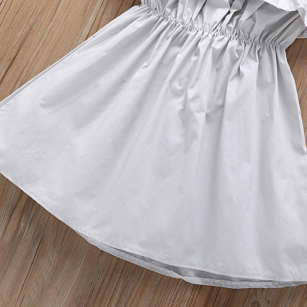 Buoyee Toddler Baby Girl Clothes Princess Sleeveless Ruffle Suspender Dress Outfit