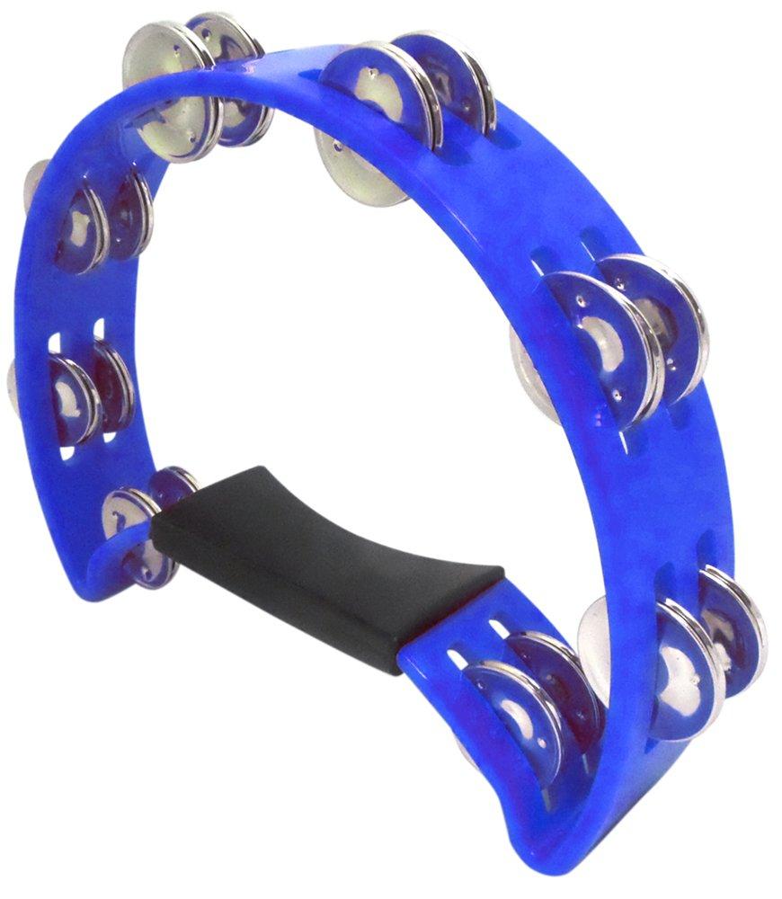 Performance Plus Headless Pro Church Quality Blue Rhythm Tambourine, inch (HMT1BL)