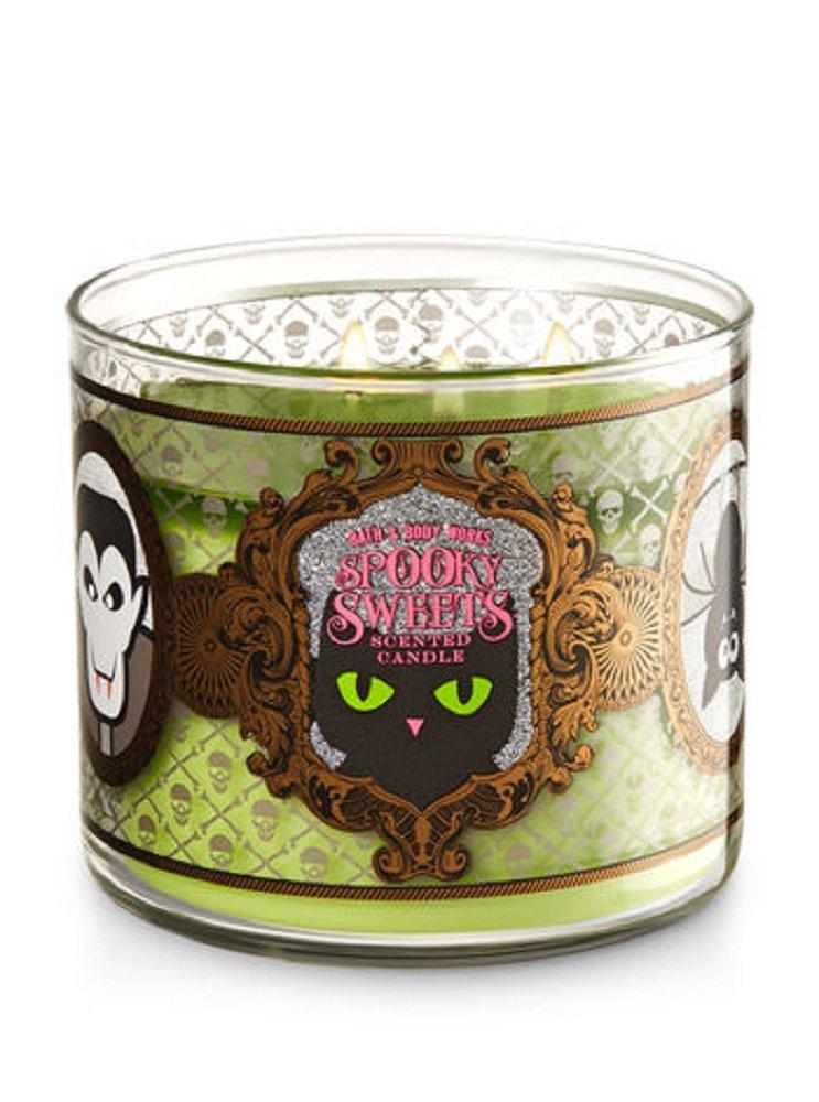 Bath & Body Works Spooky Sweets Caramel Pumpkin Swirl with Glitter Lid 3-Wick Candle