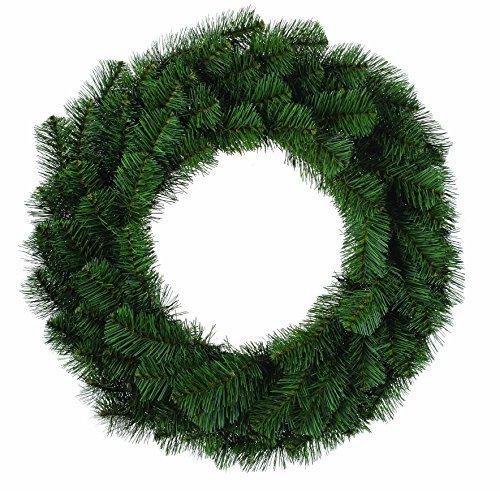 Douglas Fir Evergreen 24 Inch Artificial Decorative Hanging Christmas (Fir Wreath)