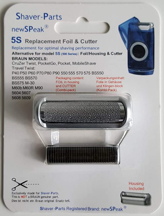 Braun hoja de afeitar 5S (500 Series), alternativa láminas de ...