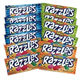 Razzles Gum Candies 12-pack Variety, 1.4 oz. Packages [4 of each flavor]
