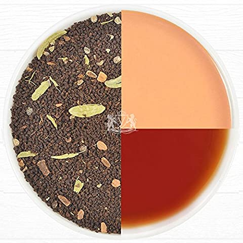 India's Original Masala Chai Tea Leaves - Ancient Indian House Recipe -Harvest Assam CTC Black Tea blended with Cardamom, Cinnamon, Black Peppercorns & Cloves - from India, 3.53oz