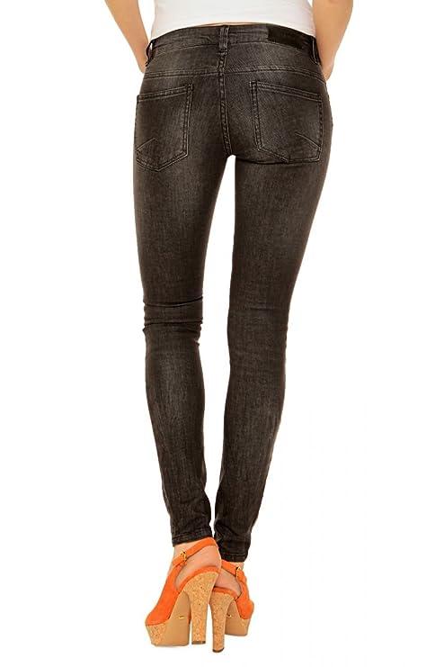 Desires Damen Jeans Skinny Skinny Jeans CLAUDIA, Farbe: Dunkelgrau, Größe:  30/34: Amazon.de: Bekleidung