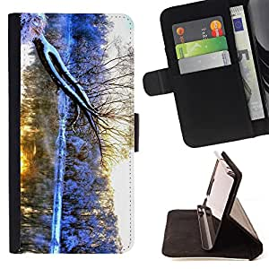 King Air - Premium PU Leather Wallet Case with Card Slots, Cash Compartment and Detachable Wrist Strap FOR LG G3 LG-F400 D802 D855 D857 D858 - Merry Christmas Tree Green Red Deer Snow Winer