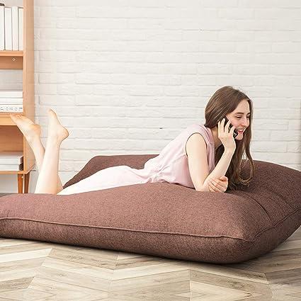 Miraculous Amazon Com Qsby Bean Bag Chair Beanbag Floor Cushion Grey Machost Co Dining Chair Design Ideas Machostcouk