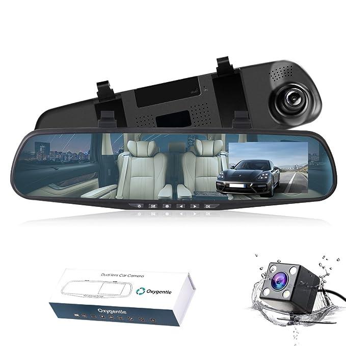 Hot Sale Dual Lens Car Reverse Backup Mirror Driving Recorder Dvr Camera 1080p Recorder Interior Car & Truck Parts