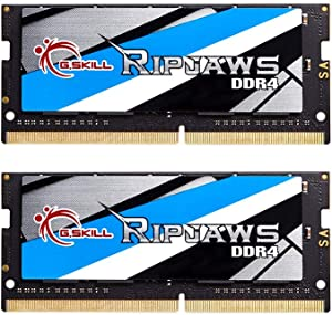 G.Skill 16GB 2666MHz DDR4 SO-DIMM Laptop Memory Upgrade Kit (CL19) 1.20V PC4-21300 Ripjaws 2x8GB