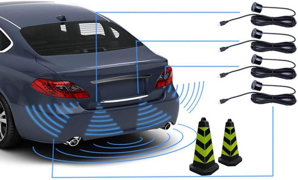 Robluee Syst/ème de Radar de Recul Arri/ère avec Capteur A4 de pour Voiture Ecran LED