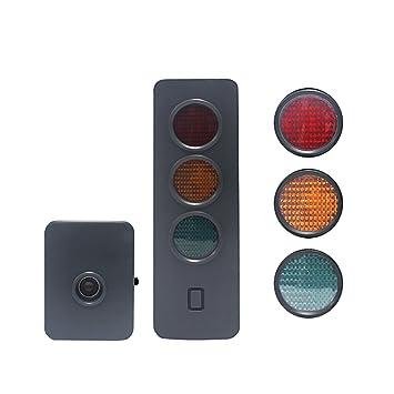 wisamic garaje Sensor de aparcamiento Aparcamiento Lámparas de dispositivo automático para asistencia de aparcamiento con pantalla de precisión para coche: ...
