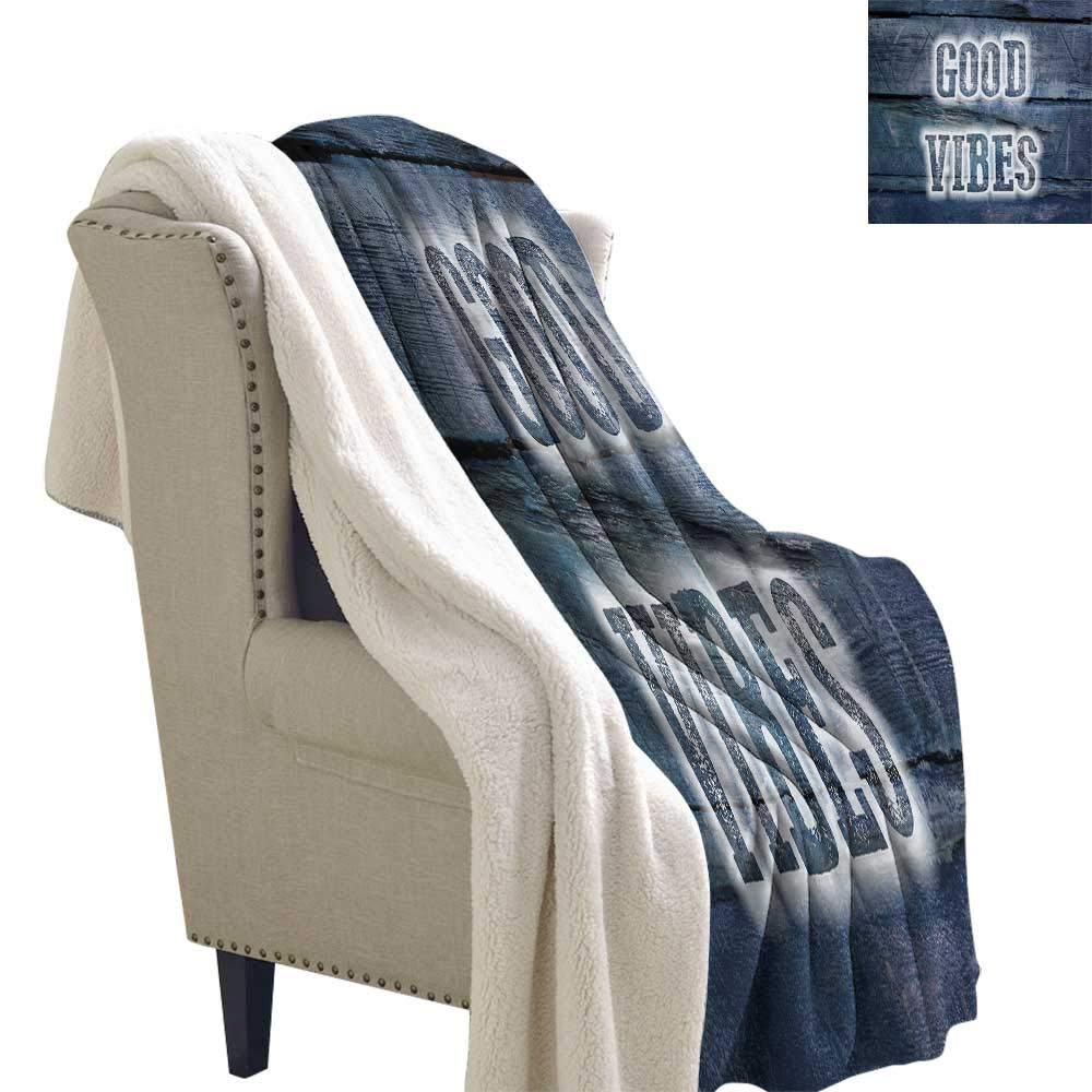 Pattern color08 W60 x L47 Inch Benmo House Throw Blanket Good Vibes,Nautical Design with Stripes Brushstrokes Steering Wheels Anchor Icon,Baby bluee Night bluee Warm Breathable Comforter for Girls Kids Adults 60x47 Inch
