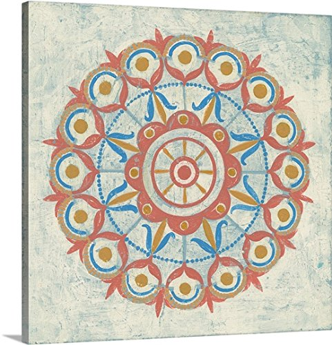 Gallery-Wrapped Canvas entitled Lakai Circle V Taupe by Kathrine Lovell - Lines Gallery Tan