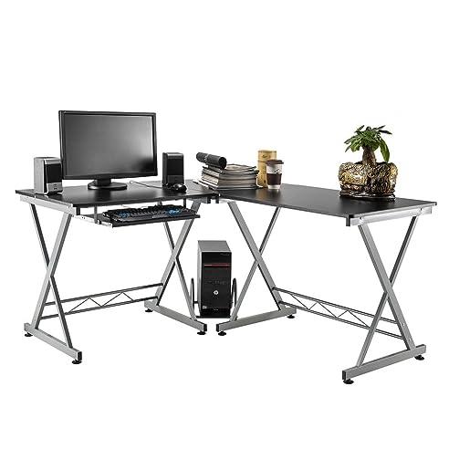 pc ecktisch ikea hemnes mit aufsatz hellbraun massivholz. Black Bedroom Furniture Sets. Home Design Ideas