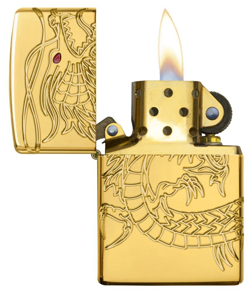Dragon Armor Heavy Zippo Outdoor Indoor Windproof Lighter Free Custom Personalized Engraved Message Permanent Lifetime Engraving on Backside by Zippo (Image #6)