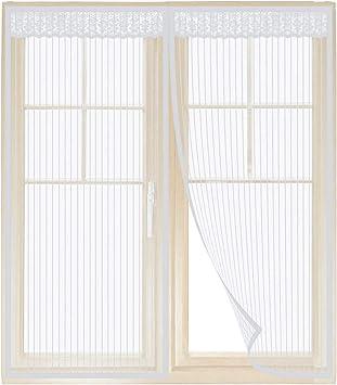 Todos Los Tama/ños Protecci/óN contra Insectos de Autoadhesiva Cortina Mosquitera para ventanas PLYY Mosquitera Ventana Corredera Magn/ética para Ventanas Batientes No Requiere Perforaci/óN