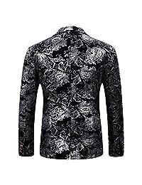 Cloudstyle traje de vestir para hombre de un solo pecho 2 piezas Slim Fit 2 botones Trajes