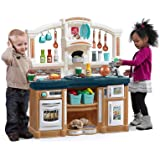Step2 Fun with Friends Kitchen | Large Plastic Play Kitchen with Realistic Lights & Sounds | Blue Kids Kitchen Playset…