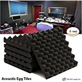 "6 Pack- Acoustic Sound Foam Egg Tiles Panels (6 Square Feet) 12"" X 12"" X 1.5"""