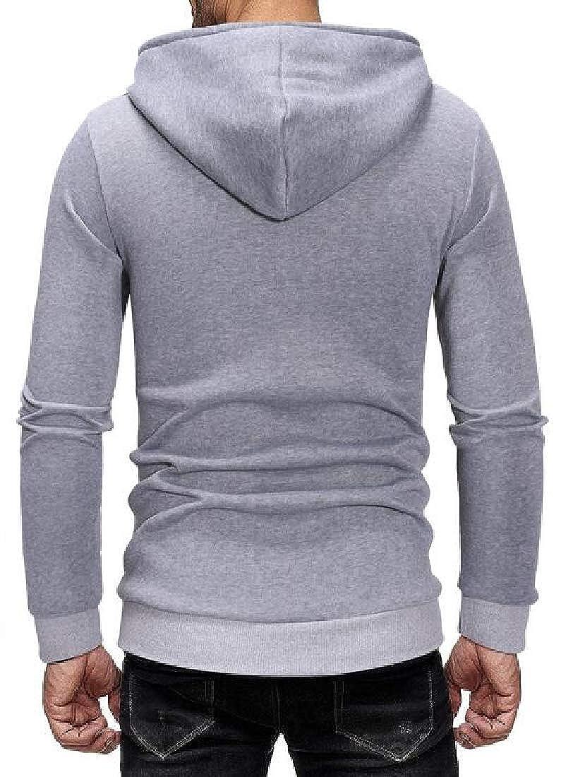 XiaoTianXinMen XTX Men Casual Pockets Wing Printing Hooded Hoodies Sweatshirt Coat Jacket