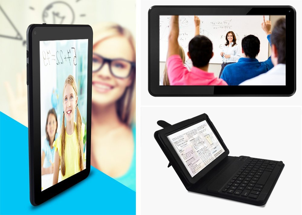 Azpen A949 9'' Quad Core Android 5.1 OS Tablet with Bluetooth Dual Cameras Office Suite, Keyboard and Case Included