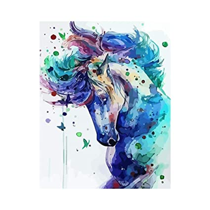Amazon Com Carise Horse Diy Digital Oil Painting Paint By Number