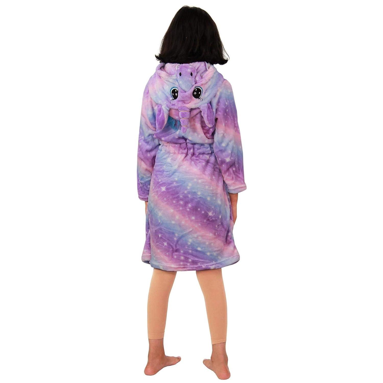 A2Z 4 Kids Enfants Filles Licorne Encapuchonn/é Peignoir Extra Doux Duveteux 3D Galaxie Imprim/é Xmas Castume Nuit Loungewear Dressing Robe /Âge 2-13 Ans