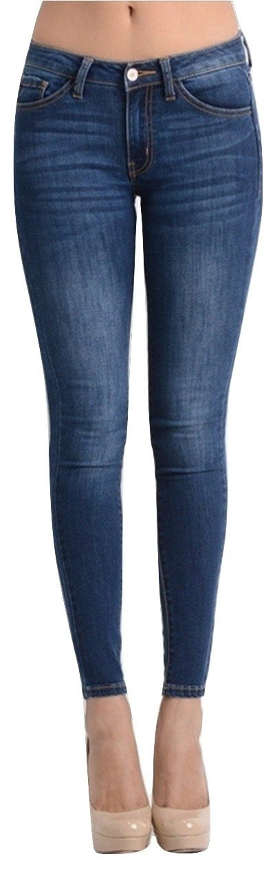 KAN CAN Women's Skinny Jeans 13 Dark Denim