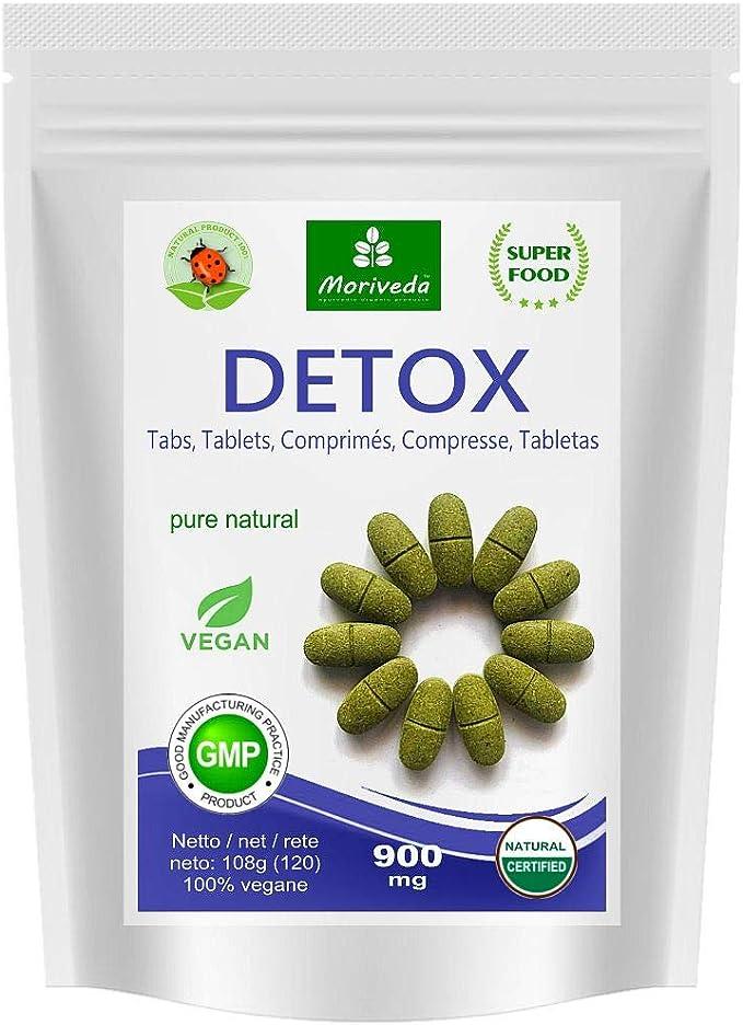 MoriVeda® - Moringa Detox 900mg Tabs - 120 o 360 - moringa, cebada ...