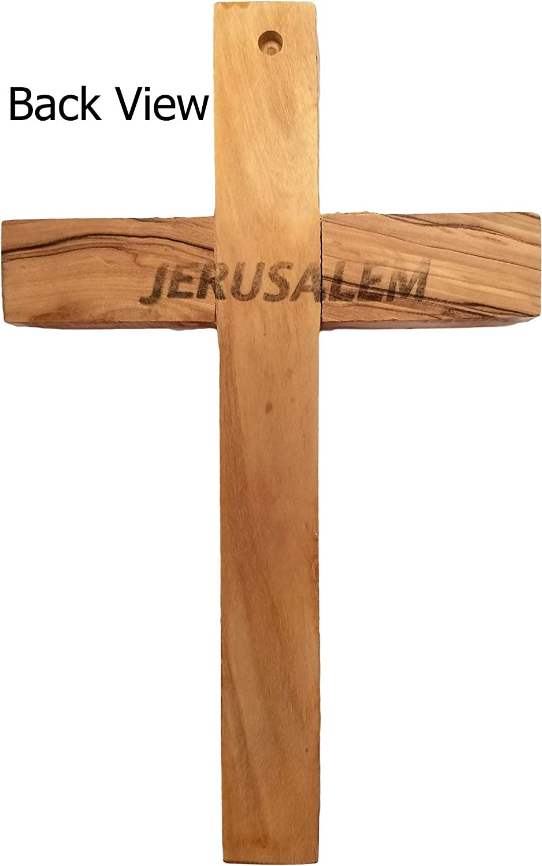 Logos Trading Post Holy Land Olive Wood Wall Cross 4.75 Jerusalem Small